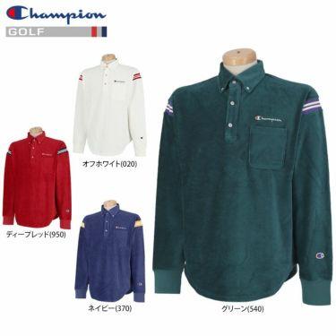 チャンピオンゴルフ Champion GOLF メンズ ストレッチ コーデュロイ 長袖 ボタンダウン ポロシャツ C3-SG406 2020年モデル 詳細1