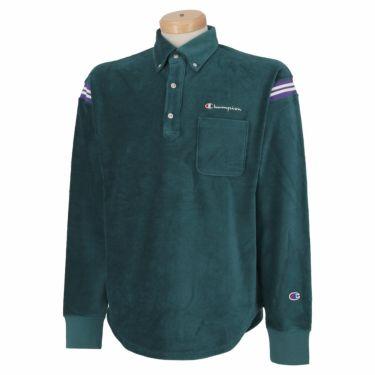 チャンピオンゴルフ Champion GOLF メンズ ストレッチ コーデュロイ 長袖 ボタンダウン ポロシャツ C3-SG406 2020年モデル グリーン(540)