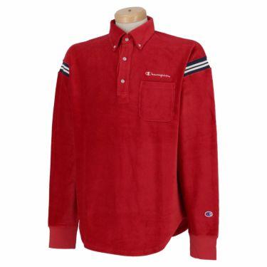 チャンピオンゴルフ Champion GOLF メンズ ストレッチ コーデュロイ 長袖 ボタンダウン ポロシャツ C3-SG406 2020年モデル ディープレッド(950)