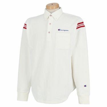 チャンピオンゴルフ Champion GOLF メンズ ストレッチ コーデュロイ 長袖 ボタンダウン ポロシャツ C3-SG406 2020年モデル オフホワイト(020)