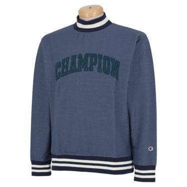 チャンピオンゴルフ Champion GOLF メンズ ストレッチ 長袖 モックネックシャツ C3-SG408 2020年モデル ブルー(340)