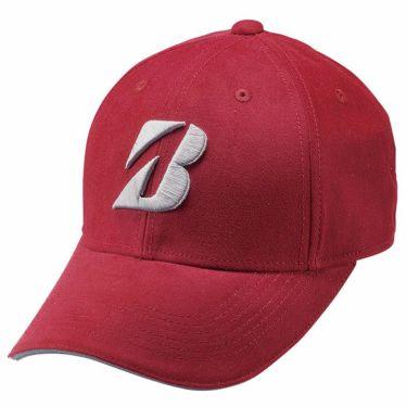ブリヂストン TOUR B ロゴ刺繍 ピーチツイル メンズ キャップ CPWG06 DR ディープレッド 2020年モデル ディープレッド(DR)