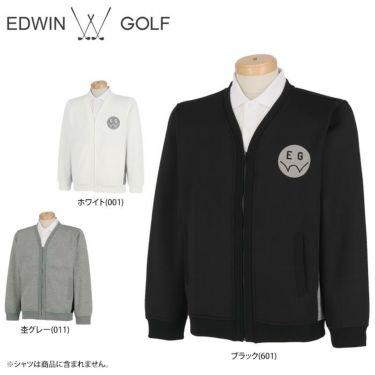 エドウィン EDWIN メンズ ロゴプリント 裏起毛 長袖 ジップアップ カーディガン EG19AW5010 2019年モデル 詳細1