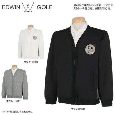 エドウィン EDWIN メンズ ロゴプリント 裏起毛 長袖 ジップアップ カーディガン EG19AW5010 2019年モデル 詳細2