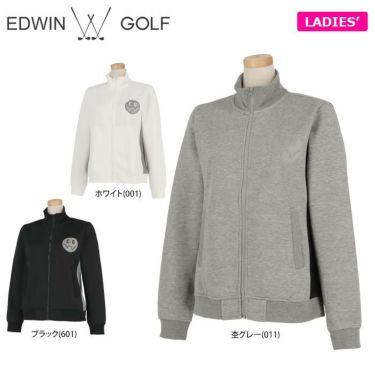 エドウィン EDWIN レディース ロゴプリント 裏起毛 長袖 フルジップ ジャケット EG19AW6020 2019年モデル 詳細1