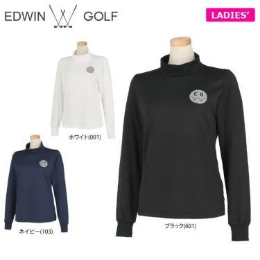 エドウィン EDWIN レディース ロゴプリント ストレッチ 長袖 モックネックシャツ EG19AW6030 2019年モデル 詳細1