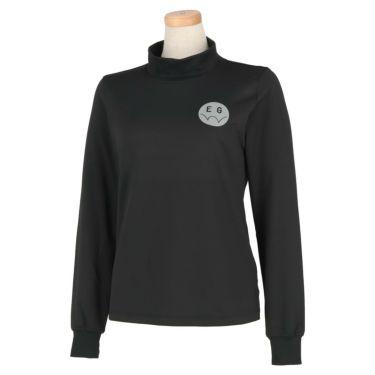 エドウィン EDWIN レディース ロゴプリント ストレッチ 長袖 モックネックシャツ EG19AW6030 2019年モデル ブラック(601)