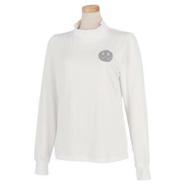 エドウィン EDWIN レディース ロゴプリント ストレッチ 長袖 モックネックシャツ EG19AW6030 2019年モデル ホワイト(001)