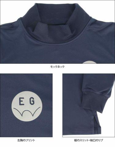エドウィン EDWIN レディース ロゴプリント ストレッチ 長袖 モックネックシャツ EG19AW6030 2019年モデル 詳細4