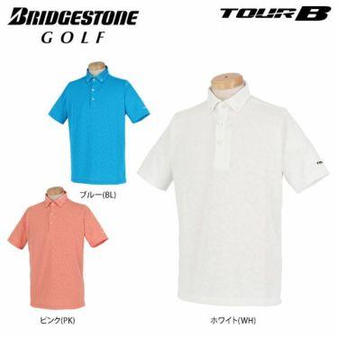 ブリヂストンゴルフ TOUR B メンズ メッシュ ジャガード 半袖 ボタンダウン ポロシャツ 3GN03A 2019年モデル 詳細1