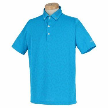 ブリヂストンゴルフ TOUR B メンズ メッシュ ジャガード 半袖 ボタンダウン ポロシャツ 3GN03A 2019年モデル ブルー(BL)
