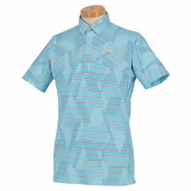 【ss特価】△ブリヂストンゴルフ TOUR B メンズ ボーダー柄 半袖 ポロシャツ RGM07A 2020年モデル サックス(SA)