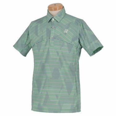 【ss特価】△ブリヂストンゴルフ TOUR B メンズ ボーダー柄 半袖 ポロシャツ RGM07A 2020年モデル ミント(MT)