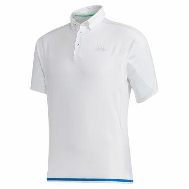 アディダス adidas メンズ メッシュ切替 半袖 ボタンダウン ポロシャツ GKI12 2020年モデル ホワイト(FJ3799)