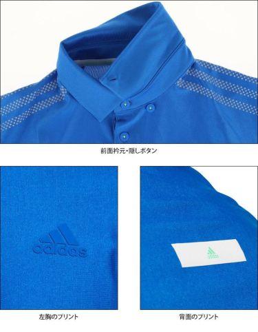 アディダス adidas メンズ メッシュ切替 半袖 ボタンダウン ポロシャツ GKI12 2020年モデル 詳細4