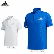 アディダス adidas メンズ 総柄 エンボスプリント 半袖 ボタンダウン ポロシャツ GKI23 2020年モデル