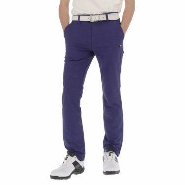 ルコック Le coq sportif メンズ ジャカード 総柄 テーパード ロングパンツ QGMNJD01 [裾上げ対応1●] ネイビー(NV00)