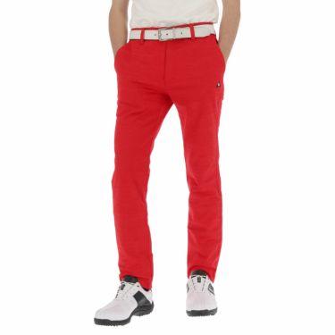 ルコック Le coq sportif メンズ ジャカード 総柄 テーパード ロングパンツ QGMNJD01 [裾上げ対応1●] レッド(RD00)