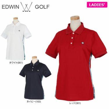 エドウィン EDWIN レディース ロゴプリント 半袖 ポロシャツ EG20SS6010 2020年モデル 詳細1