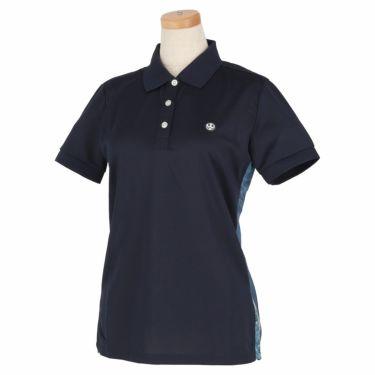 エドウィン EDWIN レディース ロゴプリント 半袖 ポロシャツ EG20SS6010 2020年モデル ネイビー(103)