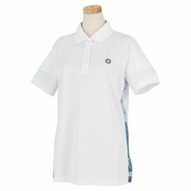 エドウィン EDWIN レディース ロゴプリント 半袖 ポロシャツ EG20SS6010 2020年モデル ホワイト(001)