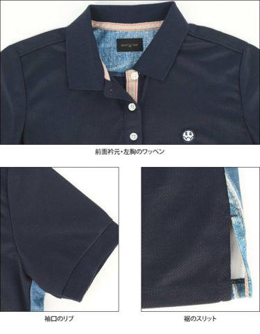 エドウィン EDWIN レディース ロゴプリント 半袖 ポロシャツ EG20SS6010 2020年モデル 詳細4