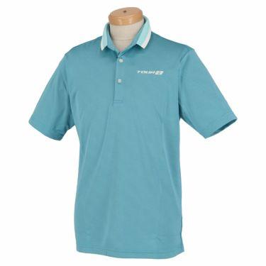 【ss特価】△ブリヂストンゴルフ TOUR B メンズ ロゴ刺繍 クールコア 半袖 ポロシャツ 3GN05A ゴルフウェア [春夏モデル 66%OFF] 特価 ブルー(BL)