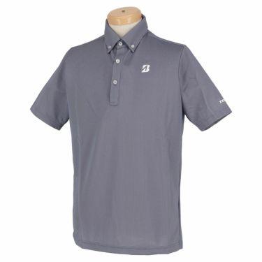 【ss特価】△ブリヂストンゴルフ TOUR B メンズ バーズアイ柄 半袖 ボタンダウン ポロシャツ 3GR07A [2020年モデル] ゴルフウェア [春夏モデル 50%OFF] 特価 ネイビー(NA)