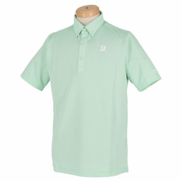 【ss特価】△ブリヂストンゴルフ TOUR B メンズ バーズアイ柄 半袖 ボタンダウン ポロシャツ 3GR07A [2020年モデル] ゴルフウェア [春夏モデル 50%OFF] 特価 グリーン(GR)