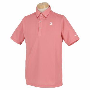 【ss特価】△ブリヂストンゴルフ TOUR B メンズ バーズアイ柄 半袖 ボタンダウン ポロシャツ 3GR07A [2020年モデル] ゴルフウェア [春夏モデル 50%OFF] 特価 ピンク(PK)