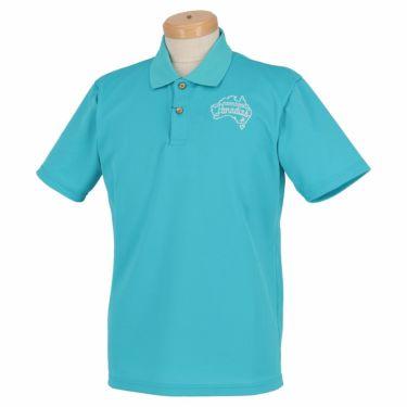 【ss特価】△パラディーゾ メンズ ロゴ刺繍 鹿の子 半袖 ポロシャツ RSM31A [2020年モデル] ゴルフウェア [春夏モデル 50%OFF] 特価 ターコイズ(TQ)