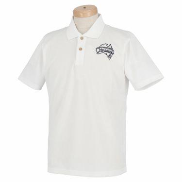 【ss特価】△パラディーゾ メンズ ロゴ刺繍 鹿の子 半袖 ポロシャツ RSM31A [2020年モデル] ゴルフウェア [春夏モデル 50%OFF] 特価 ホワイト(WH)