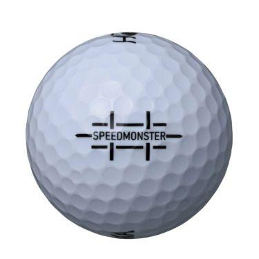本間ゴルフ D1 SPEEDMONSTER スピードモンスター 2021年モデル ゴルフボール ホワイト 1ダース(12球入り) 2021年モデル 詳細2