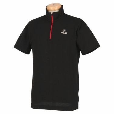 ピン PING メンズ ロゴ刺繍 半袖 ハーフジップ シャツ 621-0268001 2020年モデル 詳細2