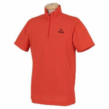 ピン PING メンズ ロゴ刺繍 半袖 ハーフジップ シャツ 621-0268001 2020年モデル 詳細3