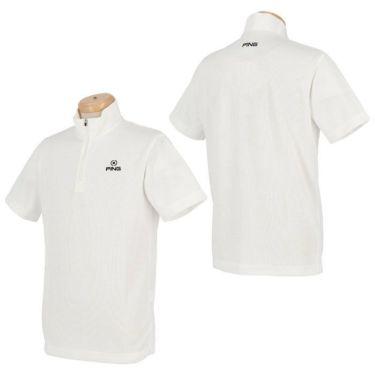 ピン PING メンズ ロゴ刺繍 半袖 ハーフジップ シャツ 621-0268001 2020年モデル 詳細6