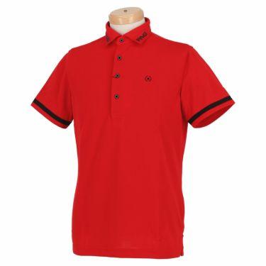 ピン PING メンズ ロゴプリント 生地切替 袖ライン 半袖 ポロシャツ 621-0160005 2020年モデル 詳細1