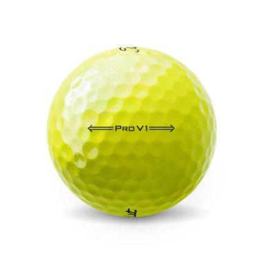 オウンネーム専用 タイトリスト プロV1 2021年モデル ゴルフボール イエロー 1ダース(12球入り) 詳細2