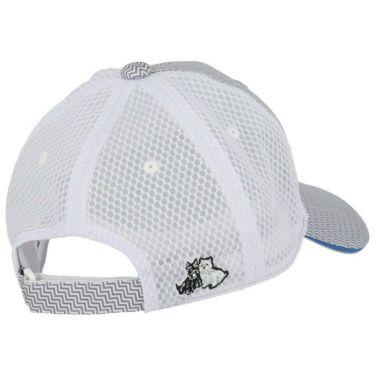 ブラック&ホワイト Black&White メンズ ロゴ刺繍 ジグザグボーダー柄 メッシュ キャップ BGS8420 23 グレー 2020年モデル 詳細1