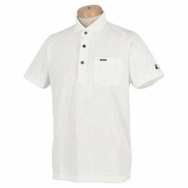 【ss特価】△ブラック&ホワイト メンズ 総柄 ジャカード 半袖 ホリゾンタルカラー ポロシャツ BGS9600XE [2020年モデル] ゴルフウェア [春夏モデル 50%OFF] 特価 ホワイト(10)