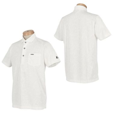 【ss特価】△ブラック&ホワイト メンズ 総柄 ジャカード 半袖 ホリゾンタルカラー ポロシャツ BGS9600XE [2020年モデル] ゴルフウェア [春夏モデル 50%OFF] 特価 詳細3