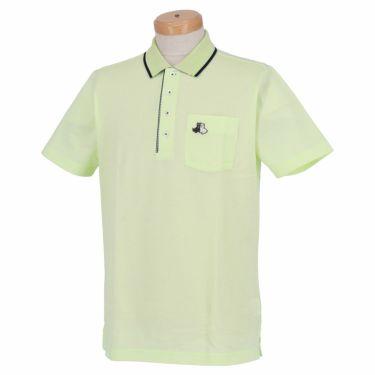 【ss特価】△ブラック&ホワイト メンズ 鹿の子 ポケット付き 半袖 ポロシャツ BGS9700YA [2020年モデル] ゴルフウェア [春夏モデル 50%OFF] 特価 グリーン(61)
