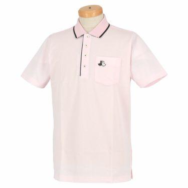 【ss特価】△ブラック&ホワイト メンズ 鹿の子 ポケット付き 半袖 ポロシャツ BGS9700YA [2020年モデル] ゴルフウェア [春夏モデル 50%OFF] 特価 ピンク(41)
