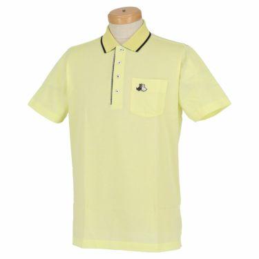 【ss特価】△ブラック&ホワイト メンズ 鹿の子 ポケット付き 半袖 ポロシャツ BGS9700YA [2020年モデル] ゴルフウェア [春夏モデル 50%OFF] 特価 イエロー(71)