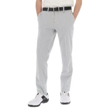 【ss特価】△ブラック&ホワイト メンズ サッカーストライプ ストレッチ ノータックス ロングパンツ BGS5010HA [2020年モデル] ゴルフウェア [春夏モデル 50%OFF] 特価 ホワイト×ネイビー(13)