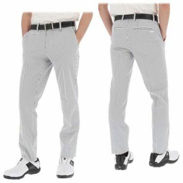 【ss特価】△ブラック&ホワイト メンズ サッカーストライプ ストレッチ ノータックス ロングパンツ BGS5010HA [2020年モデル] ゴルフウェア [春夏モデル 50%OFF] 特価 詳細3