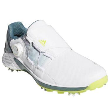 アディダス adidas ZG21 BOA ゼッドジー21 ボア メンズ ソフトスパイク ゴルフシューズ 2021年モデル ホワイト/イエロー/ブルー
