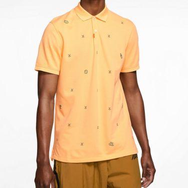 ナイキ NIKE 飛び柄刺繍 メンズ 半袖 ポロシャツ CI9772 251 セレスティアルゴールド