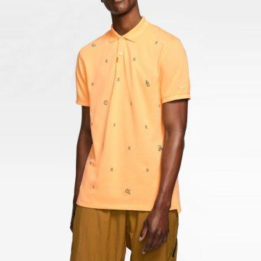 ナイキ NIKE 飛び柄刺繍 メンズ 半袖 ポロシャツ CI9772 251 セレスティアルゴールド 詳細1
