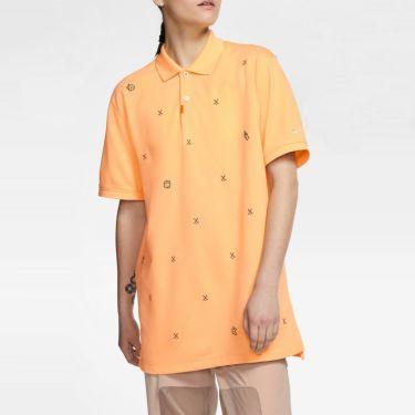 ナイキ NIKE 飛び柄刺繍 メンズ 半袖 ポロシャツ CI9772 251 セレスティアルゴールド 詳細3